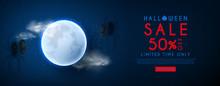 Halloween Sale Web Banner. Vec...