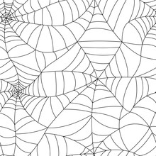 Seamless Spider Web Pattern. V...