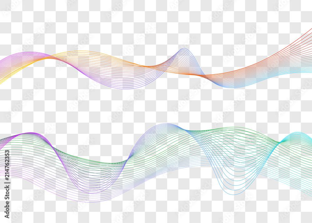 Sound wave, music waveform