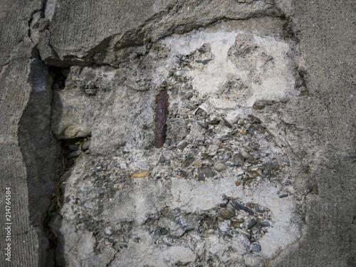 Fotografering  Crumbling wall