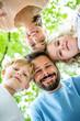 Glücklicher Vater und Familie