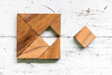 Tangram Puzzle In Square Shape...