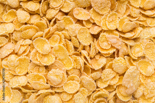 Canvas Print Delicious cereal cornflakes texture