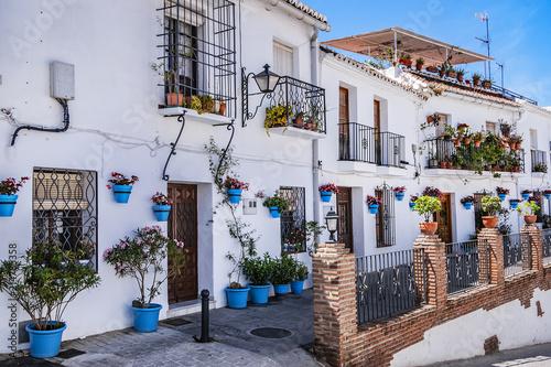 Fotografia Beautiful view of old Mijas Calle Moro (Moro Street)