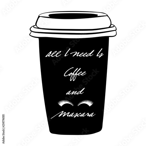 All I need is coffee and mascara Canvas Print