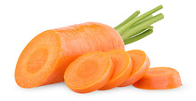 Fresh Clean Carrots With Stems...