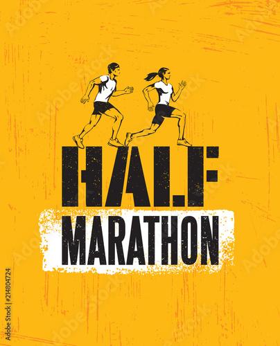 Photo  Half Marathon Active Sport Event Advertisement Banner Concept