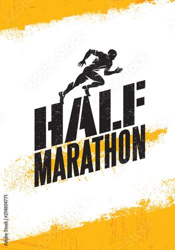 Half Marathon Active Sport Event Advertisement Banner Concept Canvas Print