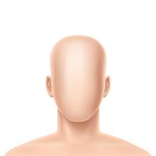 Vector 3d Faceless Human Model...