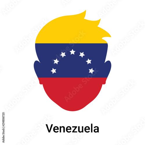 Fotografía Venezuela icon vector sign and symbol isolated on white background, Venezuela lo