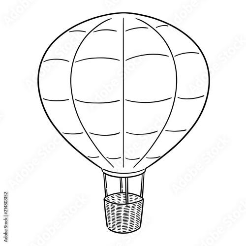 Obraz na płótnie vector of hot air balloon