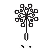 Pollen Icon Vector Sign And Sy...