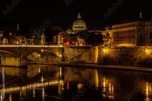 Photo  Roma, panorama notturno