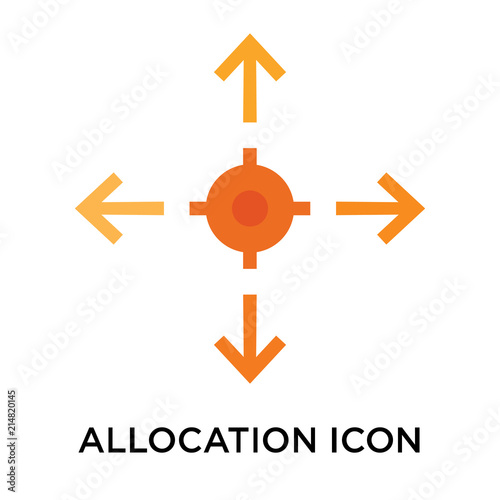 Allocation icon vector sign and symbol isolated on white background, Allocation Canvas Print