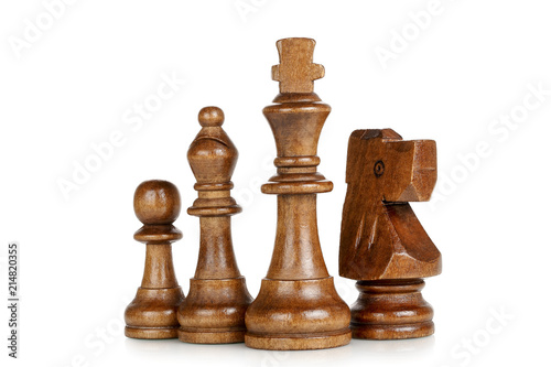 Fotografie, Obraz wooden chess pieces