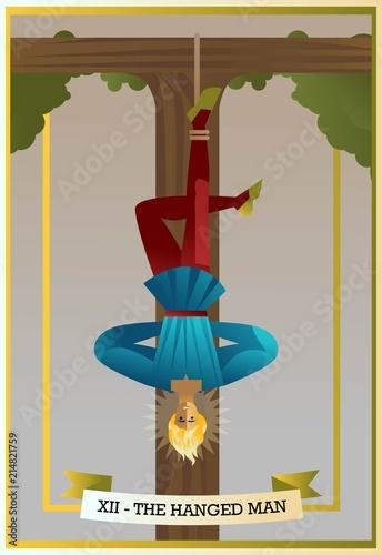 Fotografia hanged man tarot card