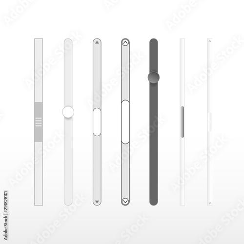 Set of scrollbars set. Vector illustration. Isolated on white background