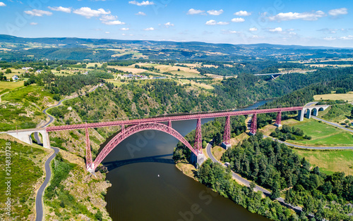Photo Garabit Viaduct, a railway bridge across the Truyere in France