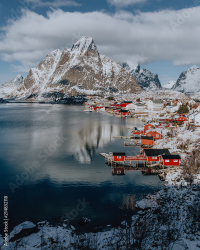 Spoed Foto op Canvas Poolcirkel Lofoten - Norway