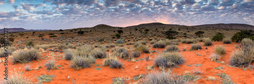 Valokuvatapetti Panoramic landscape photo views over the kalahari region in South Africa