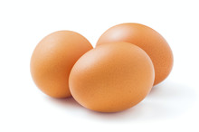 Raw Chicken Eggs Isolated On W...