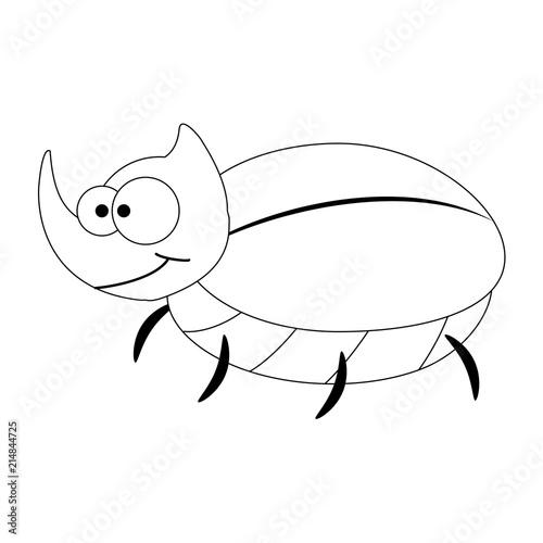 colorles funny cartoon rhinoceros beetle buy this stock vector Rhinoceros Beetle Larvae colorles funny cartoon rhinoceros beetle
