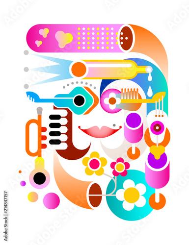Staande foto Abstractie Art Music Festival vector artwork