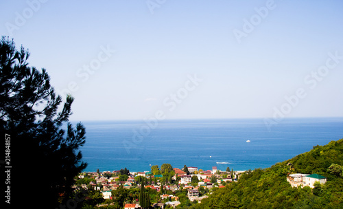 Gagra from a height, the streets of the city, Abkhazia Canvas Print
