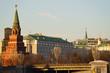 cityscape Kremlin, a large stone bridge, a large Kremlin palace
