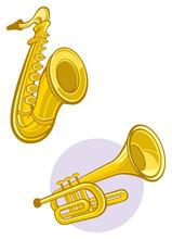 Saxaphone And Trumpet