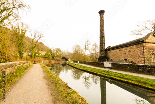 Leawood Pumphouse and the Cromford Canal. Wallpaper Mural