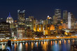 Downtown Pittsburgh over Allegheny River Pennsylvania USA