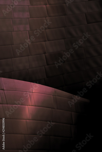 Autocollant pour porte Opera, Theatre Architectural abstract of a metal clad building in Los Angeles, California