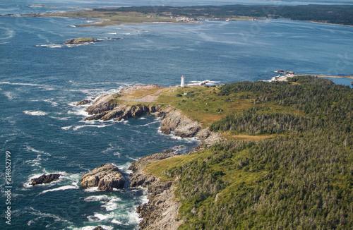 Leinwand Poster Rough Atlantic Canadian Coastline in Nova Scotia