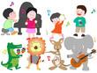 動物と子供たちのコンサート。