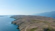 Winding road on island