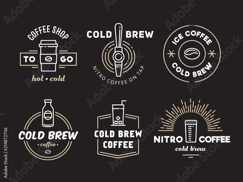 Fotomural Cold brew coffee and nitro coffee logos