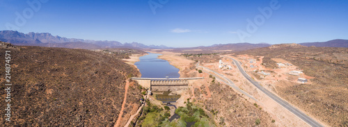 Valokuva  Aerial view over the very dry Clanwilliam dam in the Western Cape of South Afric