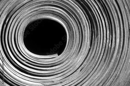 Fotografía  black rubber roll