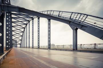 steel bridge closeup