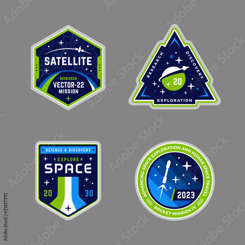 Obraz na plátně Space mission patches