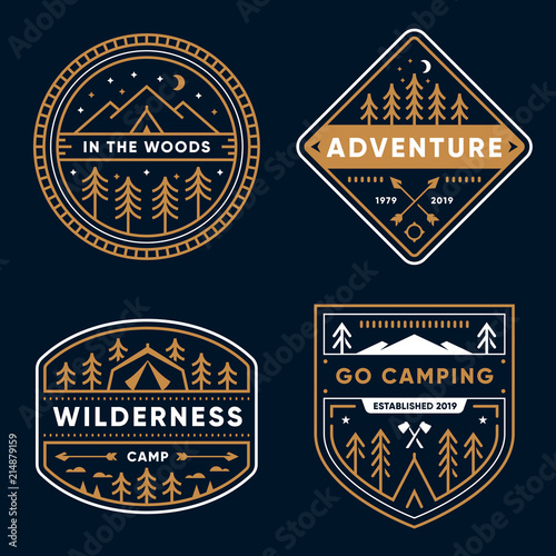 Camp Badges Wall mural