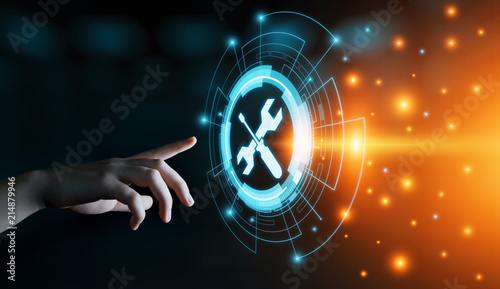 Carta da parati Technical Support Customer Service Business Technology Internet Concept