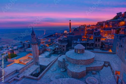 Staande foto Midden Oosten Mardin old town at dusk - Turkey