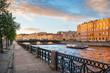 Фонтанка и мост Белинского в Санкт-Петербурге Fontanka River and Belinsky Bridge