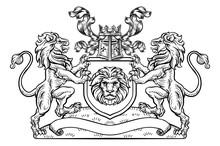 Shield Crest Lion Heraldic Coat Of Arms Emblem