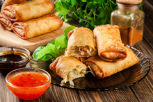 Spring Rolls With Chicken And ...