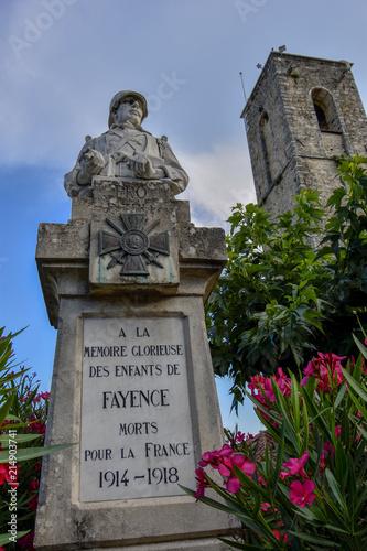 Monument aux morts de Fayence / Var Canvas Print