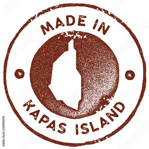 Kapas Island map vintage stamp Poster