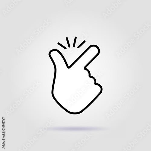 Fotografie, Obraz  Thin line snap finger like easy logo icon